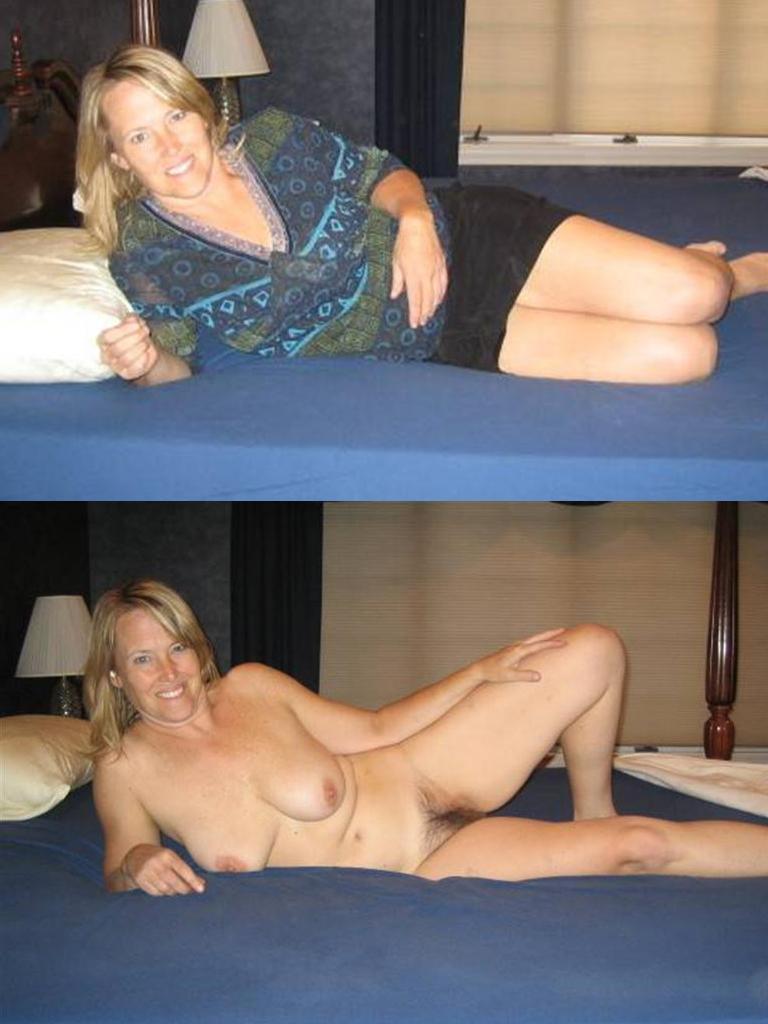 Mujeres vestidas y desnudas