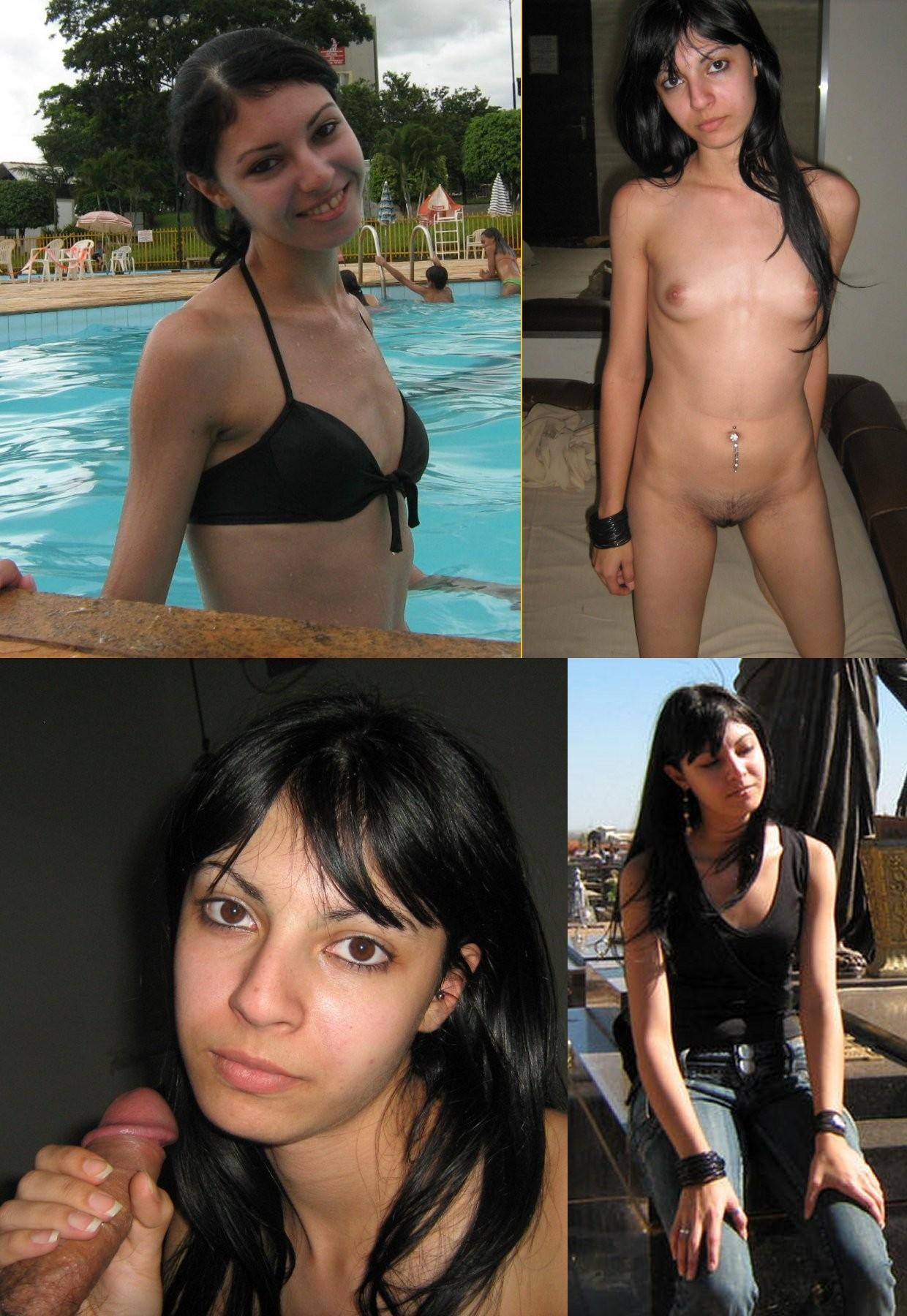 vestidas y desnudas