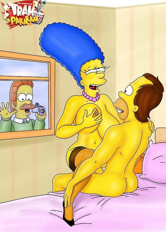 También pasa el tiempo para Los Simpson porno