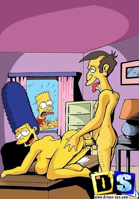 Marge Simpson y Skinner follando